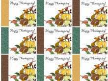 Free Printable Thanksgiving Place Card Template