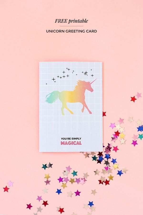 unicorn birthday card template free  cards design templates