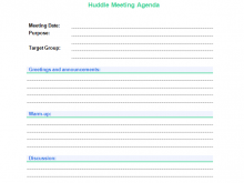 Sop Meeting Agenda Template