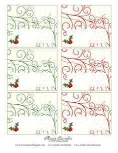 50 Free Christmas Name Card Templates For Free with Christmas Name Card Templates