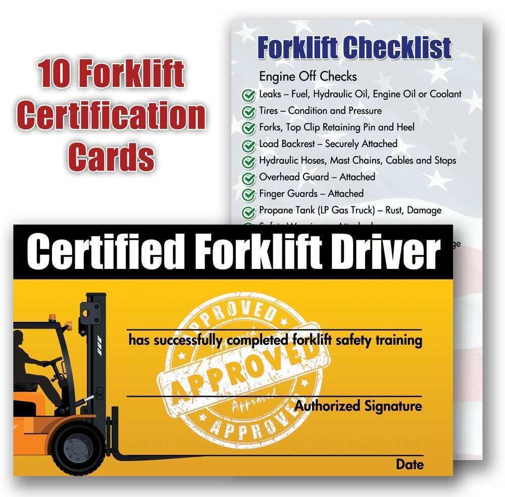 forklift certification template training wallet package xls operator osha brilliant driver templates mirka 200mm 9l grip trainer certificates lifts checklist
