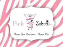 50 Printable Pink Zebra Business Card