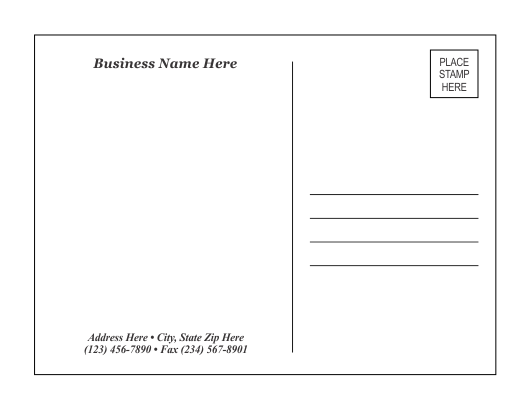 50 Report 2 X 4 Card Template PSD File for 2 X 4 Card Template