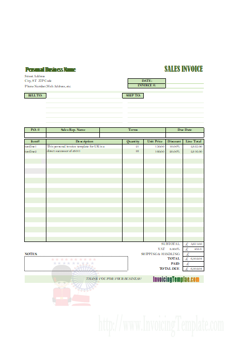 50 The Best Basic Personal Invoice Template Photo with Basic Personal Invoice Template