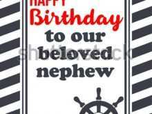 51 Adding Birthday Card Template For Nephew Now for Birthday Card Template For Nephew