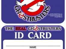 Ghostbusters Id Card Template