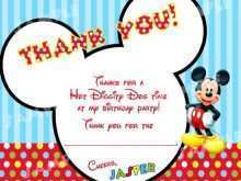 51 Adding Mickey Thank You Card Template Maker with Mickey Thank You Card Template
