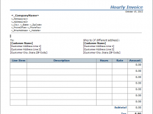 51 Best Free Hourly Invoice Template Word Maker for Free Hourly Invoice Template Word