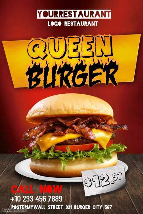 51 Burger Flyer Template PSD File by Burger Flyer Template