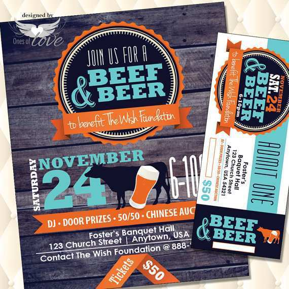 51 Create Beef And Beer Flyer Template For Free for Beef And Beer Flyer Template