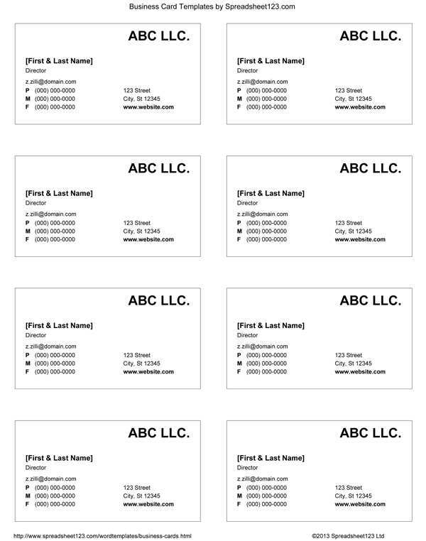 51 Creating Business Card Templates For Google Docs in Word by Business Card Templates For Google Docs