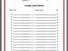 51 Creative Christmas Card List Templates Templates with Christmas Card List Templates