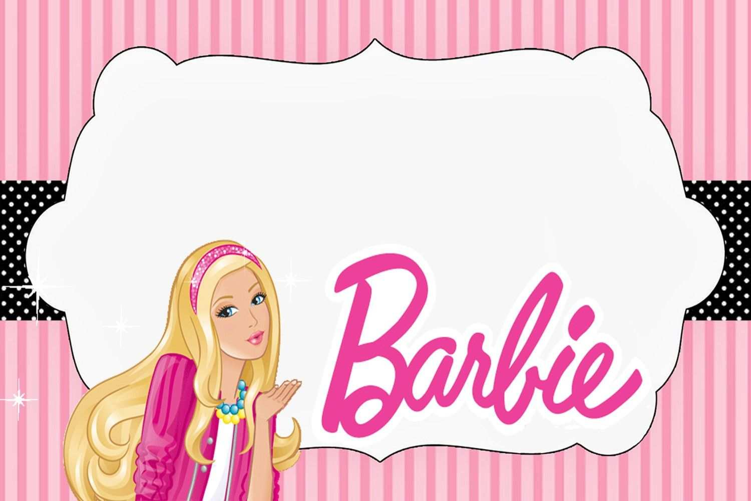 51 Customize Our Free Birthday Card Template Barbie Download For Birthday Card Template Barbie Cards Design Templates