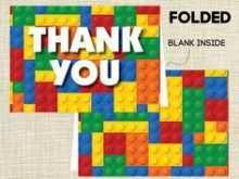 51 Customize Our Free Lego Thank You Card Template For Free with Lego Thank You Card Template