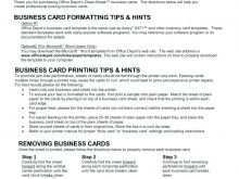 Postcard Address Label Template