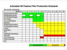 51 Customize Production Schedule Template Free With Stunning Design by Production Schedule Template Free