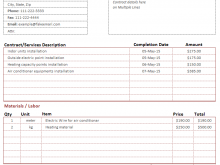 51 Format Contractor Weekly Invoice Template Maker for Contractor Weekly Invoice Template
