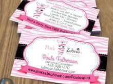 Pink Zebra Business Card Templates