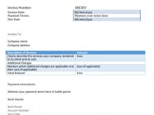 Vat Registered Invoice Template