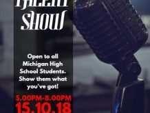 51 Online School Talent Show Flyer Template for Ms Word for School Talent Show Flyer Template