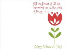 51 Printable Flower Valentine Card Templates in Word by Flower Valentine Card Templates