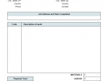 Gst Job Work Invoice Template