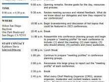 51 Standard Conference Agenda Planning Template for Ms Word for Conference Agenda Planning Template