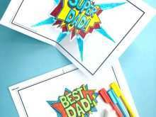 Fathers Day Card Template Free Printable