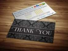 Thank You Card Template Ebay