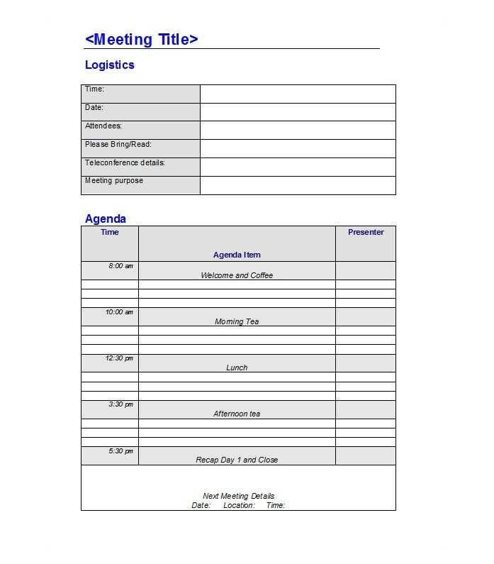 52 Best 1 1 Meeting Agenda Template For Free with 1 1 Meeting Agenda Template