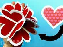 52 Best 3D Heart Pop Up Card Templates Free Download Photo by 3D Heart Pop Up Card Templates Free Download