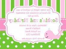 Birthday Invitation Card Template Editable