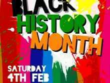 52 Creating Black History Month Flyer Template Formating for Black History Month Flyer Template