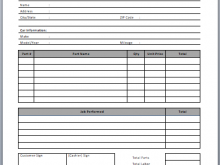Sample Auto Repair Invoice Template