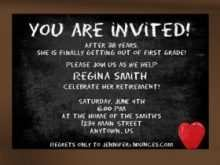 52 Creative Free Retirement Party Flyer Template Now for Free Retirement Party Flyer Template