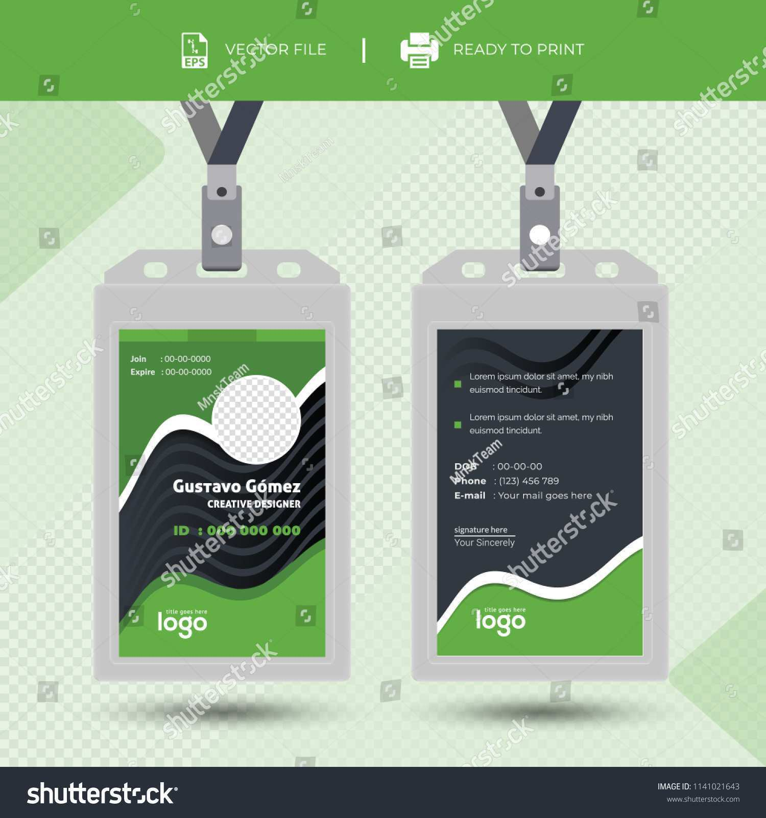 52 Customize Id Card Tag Template For Ms Word With Id Card Tag Template Cards Design Templates