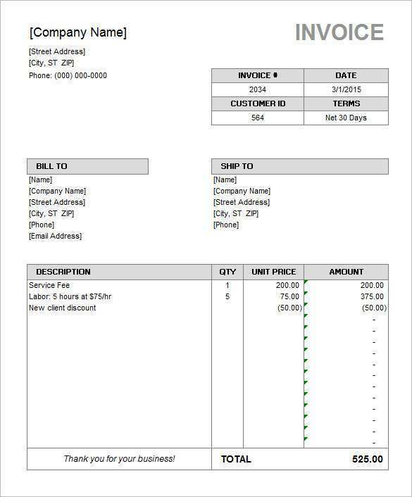 52 Customize Our Free Microsoft Excel Invoice Template Maker For Microsoft Excel Invoice Template Cards Design Templates