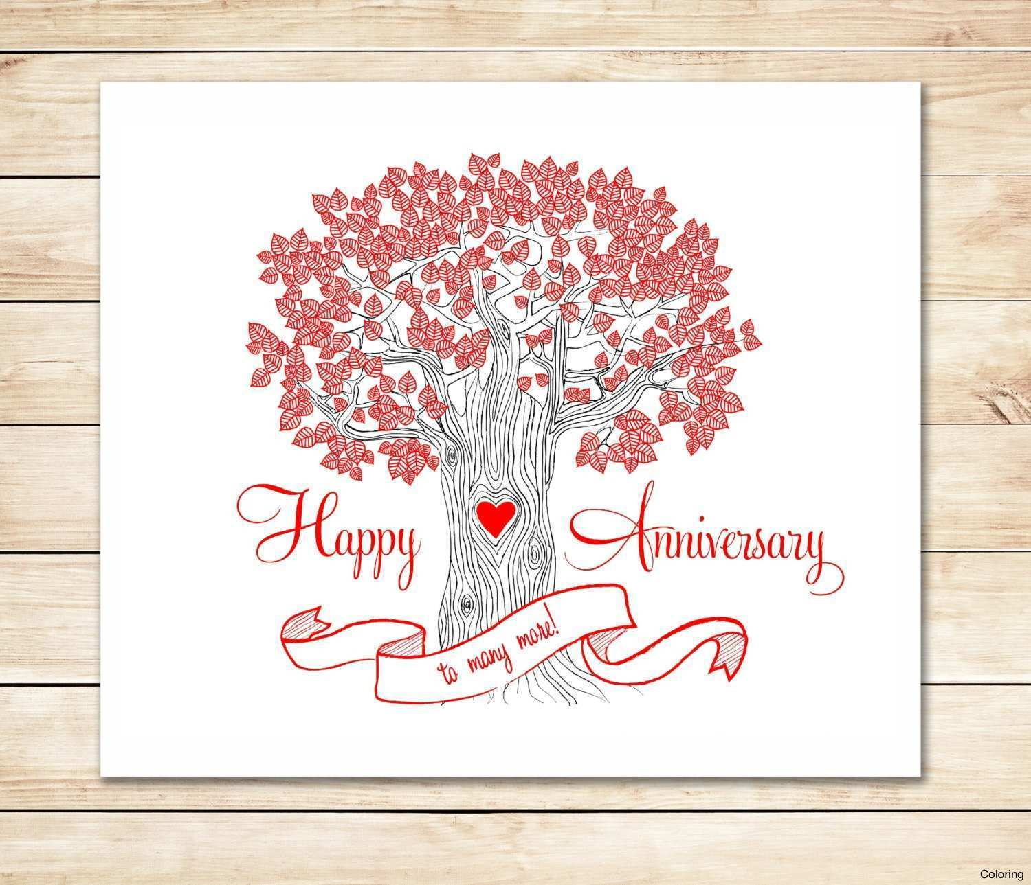 52 Online Anniversary Card Template For Word Formating by Anniversary Card Template For Word
