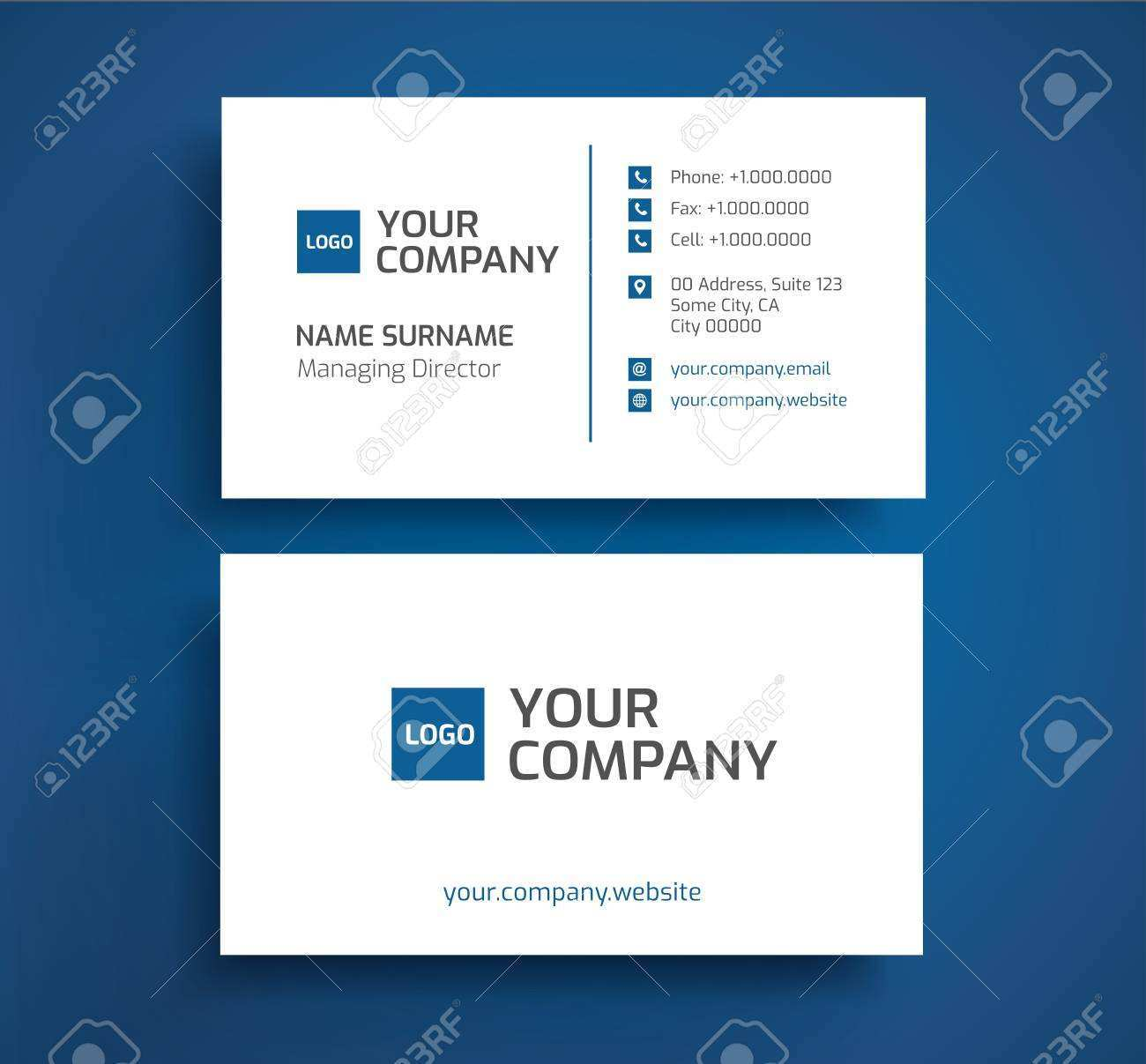 52 Online Business Card Template With Two Addresses by Business Card Template With Two Addresses