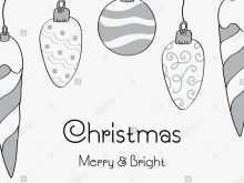 52 Online Christmas Card Templates Black And White Layouts for Christmas Card Templates Black And White