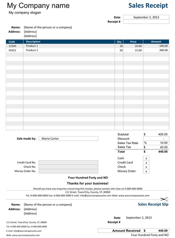 52 Printable Blank Receipt Template Excel Download for Blank Receipt Template Excel
