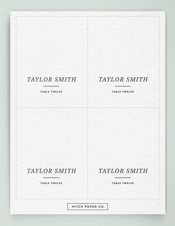 52 Printable Table Name Card Template Free Download For Free with Table Name Card Template Free Download