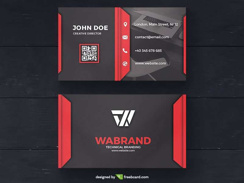 52 Report Business Card Template Red in Photoshop for Business Card Template Red