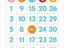 52 Standard Bingo Card Template To Print Now with Bingo Card Template To Print