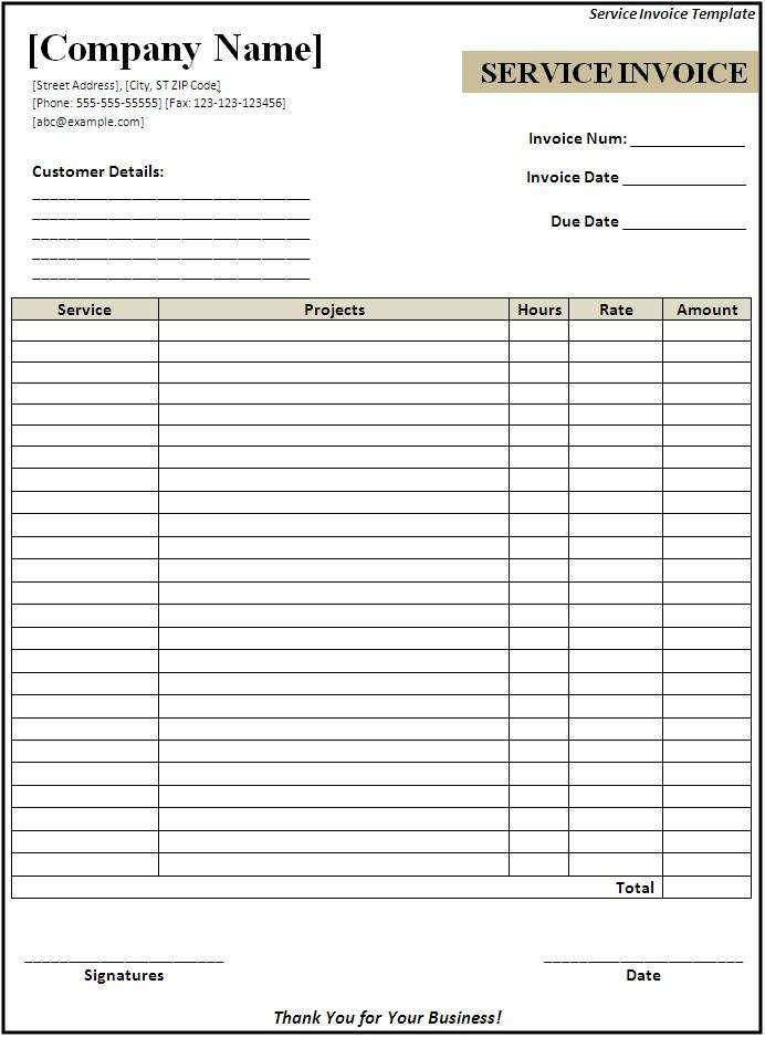 52 Standard Blank Service Invoice Template Pdf PSD File by Blank Service Invoice Template Pdf