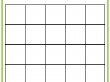 Free Bingo Card Template 5X5