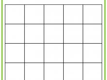 Free Bingo Card Template 5X5