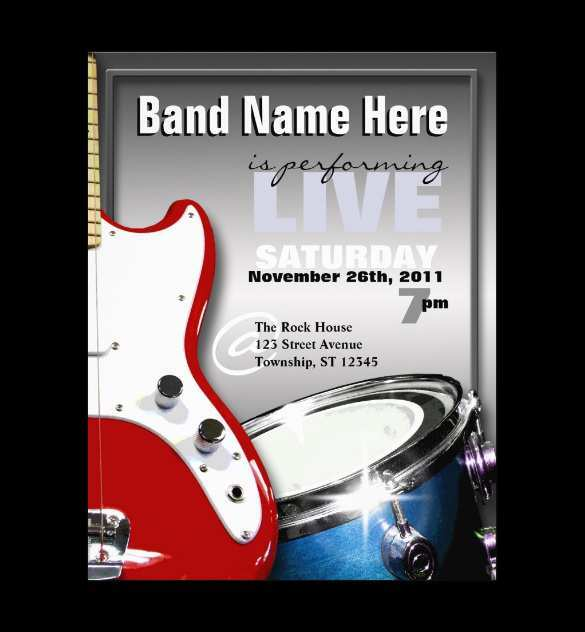 52 The Best Band Flyers Templates Now for Band Flyers Templates