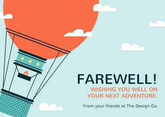 52 The Best Farewell Card Template Ai PSD File for Farewell Card Template Ai