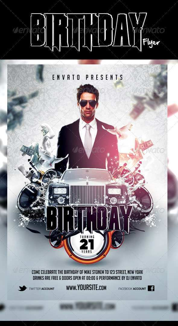 52 The Best Free Birthday Flyer Template Word Download with Free Birthday Flyer Template Word